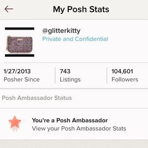 Posh Ambassador and top rated seller!